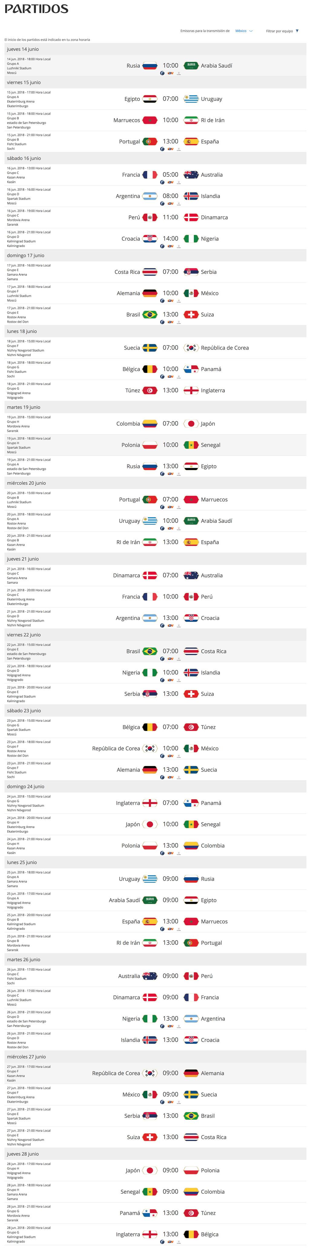 Calendario del mundial de Rusia 2018 completo ¡Descárgalo y no te pierdas ningún partido! - calendario-del-mundial-rusia-2018-completo
