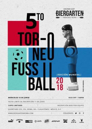 5o. Torneo de Futbolito en Biergarten CDMX ¡las inscripciones ya están abiertas!