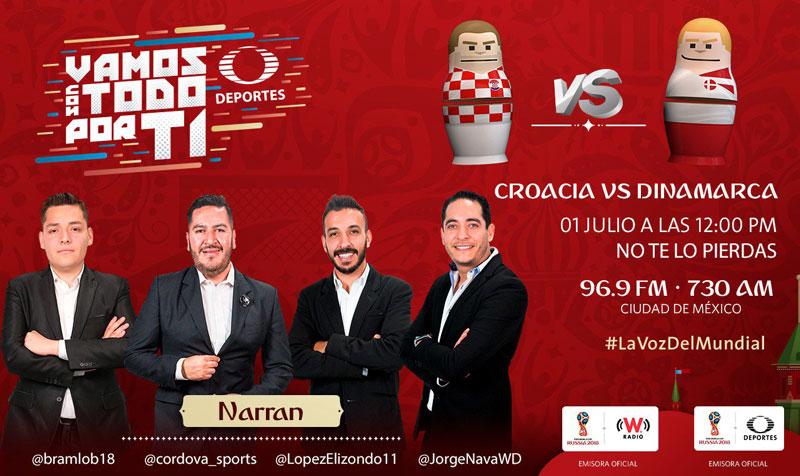 Croacia vs Dinamarca, Octavos de Rusia 2018 ¡En vivo por internet! - croacia-vs-dinamarca-por-radio-2018