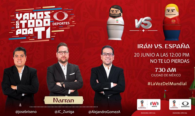 Irán vs España, Mundial Rusia 2018 ¡En vivo por internet! | Grupo B - espana-vs-iran-por-radio-mundial-2018