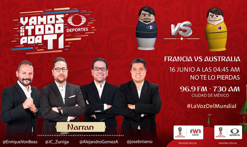 Francia vs Australia, Mundial 2018 ¡En vivo por internet! - francia-vs-australia-por-radio-mundial-2018