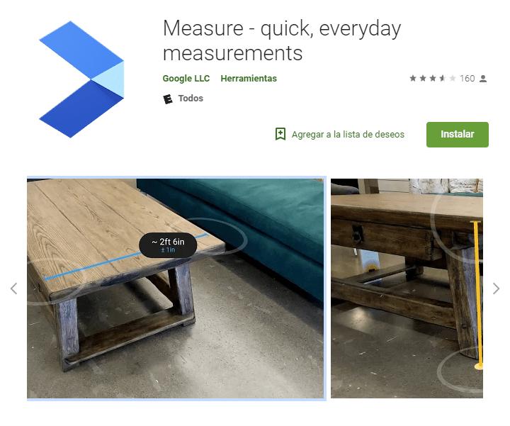 Google renueva Measure, su app para medir objetos: ahora es compatible con ARCore - measure-play-stroe