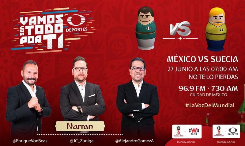 México vs Suecia en el Mundial Rusia 2018 ¡En vivo por internet! - mexico-vs-suecia-por-radio-mundial-2018