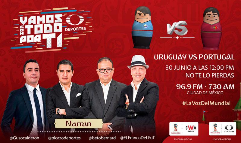 Uruguay vs Portugal, Octavos de Rusia 2018 ¡En vivo por internet! - uruguay-vs-portugal-mundial-2018-radio