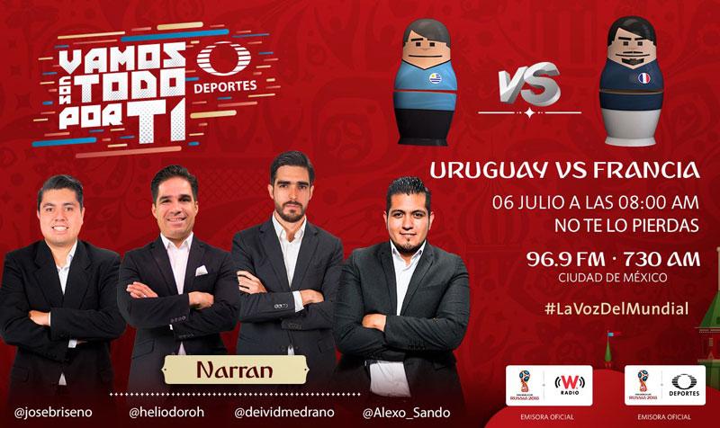 Uruguay vs Francia, Cuartos del Mundial 2018 ¡En vivo por internet! - francia-vs-uruguay-por-radio