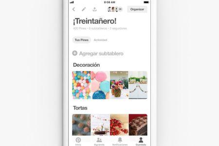 Pinterest lanza su función de colaboración para planear fiestas con familiares y amigos