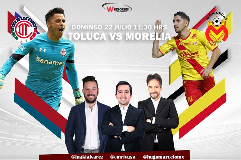 Toluca vs Morelia, Jornada 1 del Apertura 2018 ¡En vivo! - toluca-vs-monarcas-por-radio-apertura-2018