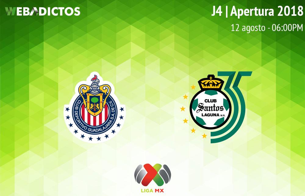 Chivas vs Santos, J4 del Apertura 2018 ¡En vivo por internet! - chivas-vs-santos-apertura-2018