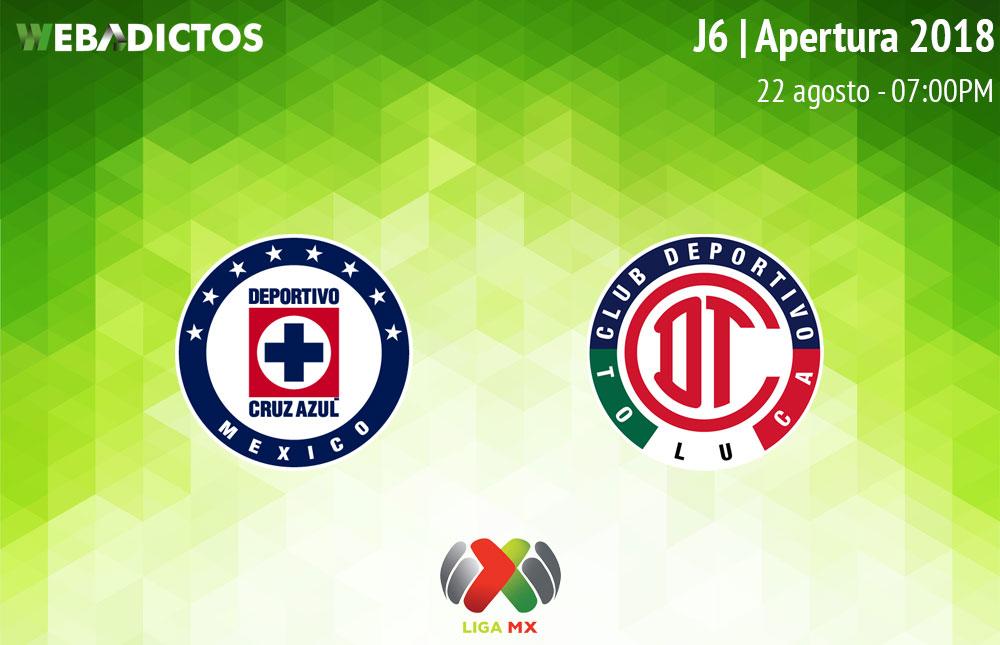 Cruz Azul vs Toluca en la J6 del Apertura 2018 ¡En vivo por internet! - cruz-azul-vs-toluca-apertura-2018