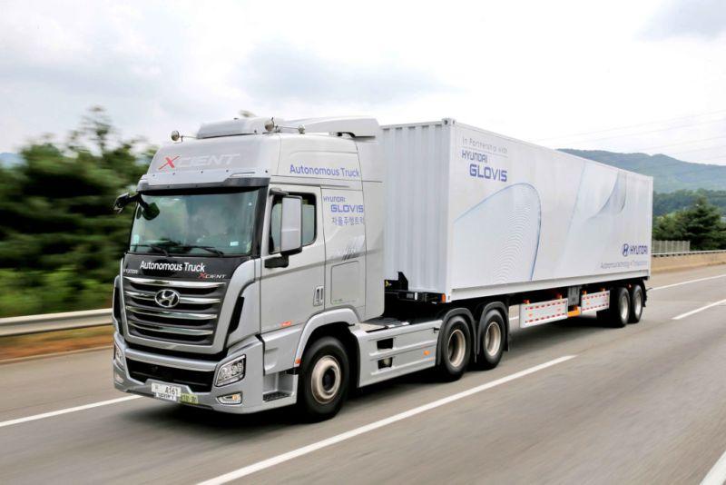 Hyundai completa el primer viaje de un camión autónomo en Corea del Sur