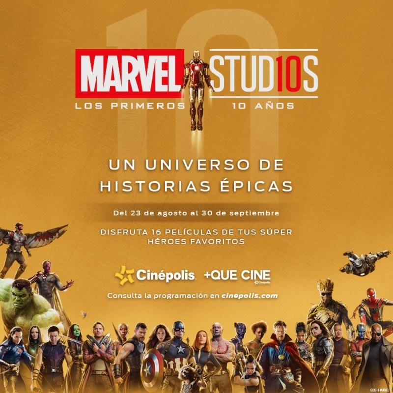 Cinépolis proyectará 16 películas detus súper héroes favoritos - marvel-800x800