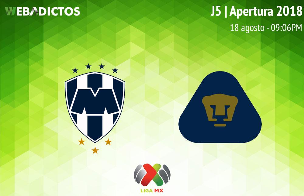 Monterrey vs Pumas, Jornada 5 del Apertura 2018 ¡En vivo! - monterrey-vs-pumas-apertura-2018