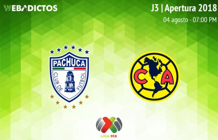 Pachuca vs América en el Apertura 2018 ¡En vivo por internet! | Jornada 3