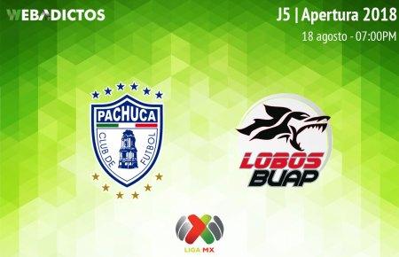 Pachuca vs Lobos BUAP, J5 del Apertura 2018 ¡En vivo por internet!