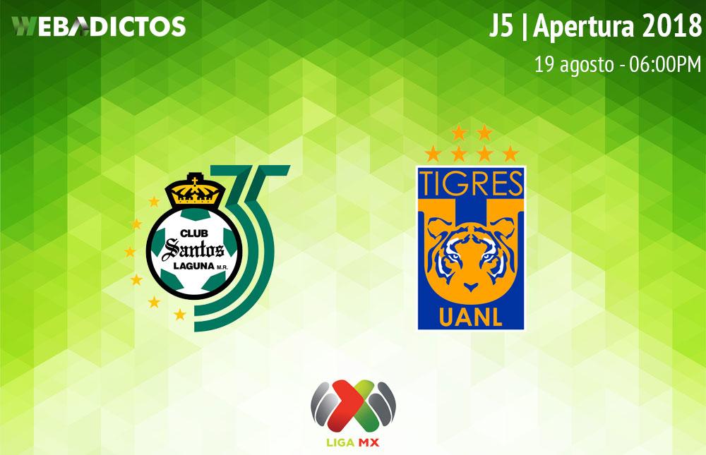 Santos vs Tigres, Jornada 5 del Apertura 2018 ¡En vivo! - santos-vs-tigres-apertura-2018