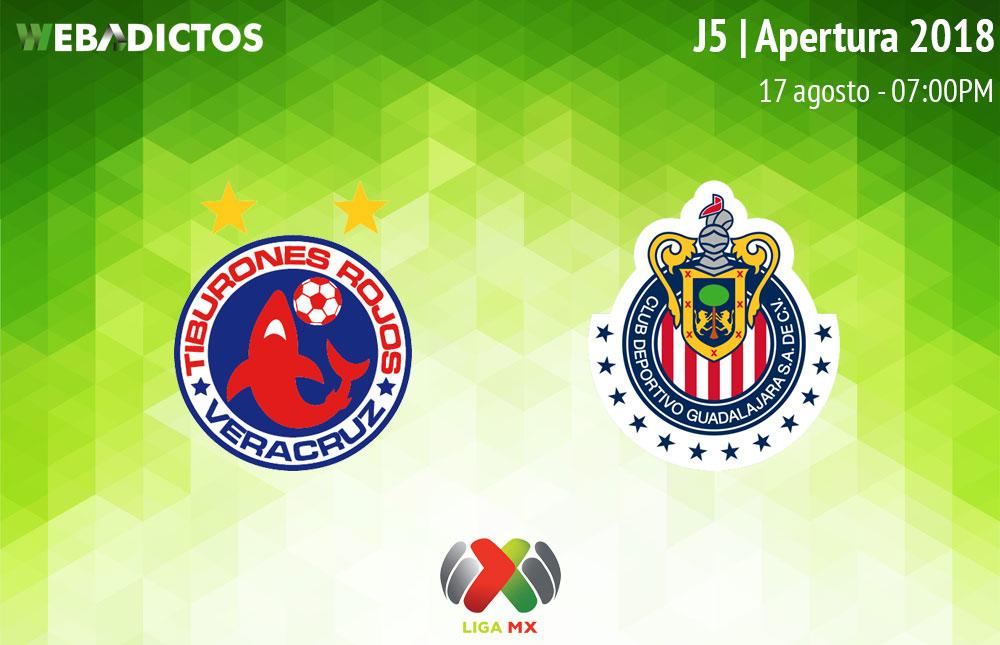 Veracruz vs Chivas, Jornada 5 del Apertura 2018 ¡En vivo por internet! - veracruz-vs-chivas-apertura-2018
