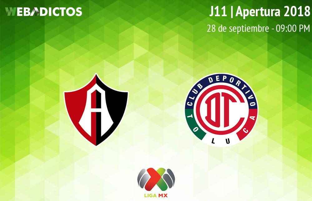 Atlas vs Toluca, Jornada 11 Apertura 2018 ¡En vivo por internet! - atlas-vs-toluca-apertura-2018