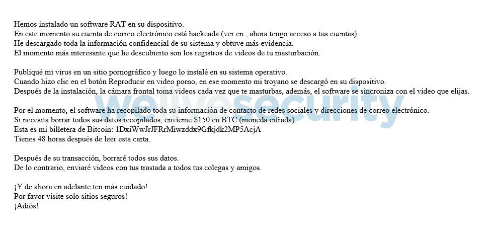 """""""su cuenta ha sido pirateada"""", una nueva extorsión circula vía correo electrónico - campancc83a-extorsion-correo-electronico"""
