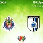 Chivas vs Querétaro, J10 del Apertura 2018 ¡En vivo por internet!