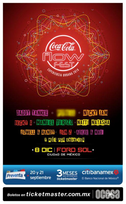 Coca Cola Flow Fest 2018: festival urbana más grande de México anuncia line up - coca_cola_flow_fest_2018-494x800