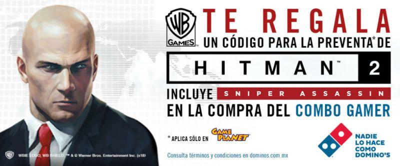 Domino's y Warner Games Latino lanzan Combo Gamer de Hitman 2 - dominospizzayjuega_1-800x332