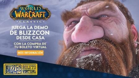 Ahora podrás jugar la demo de World of Warcraft Classic con el boleto virtual de BlizzCon