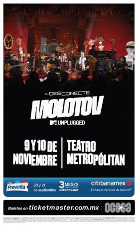 Molotov anuncia concierto en CDMX para presentar disco El Desconecte