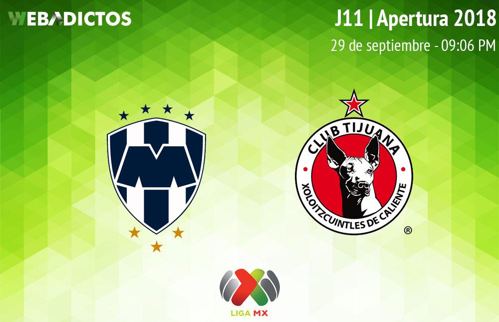 Monterrey vs Tijuana, Jornada 11 del Apertura 2018 ¡En vivo por internet! - monterrey-vs-tijuana-apertura-2018