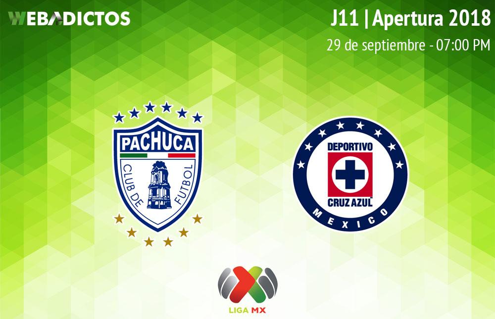 Pachuca vs Cruz Azul, Jornada 11 del Apertura 2018 ¡En vivo por internet! - pachuca-vs-cruz-azul-ap2018