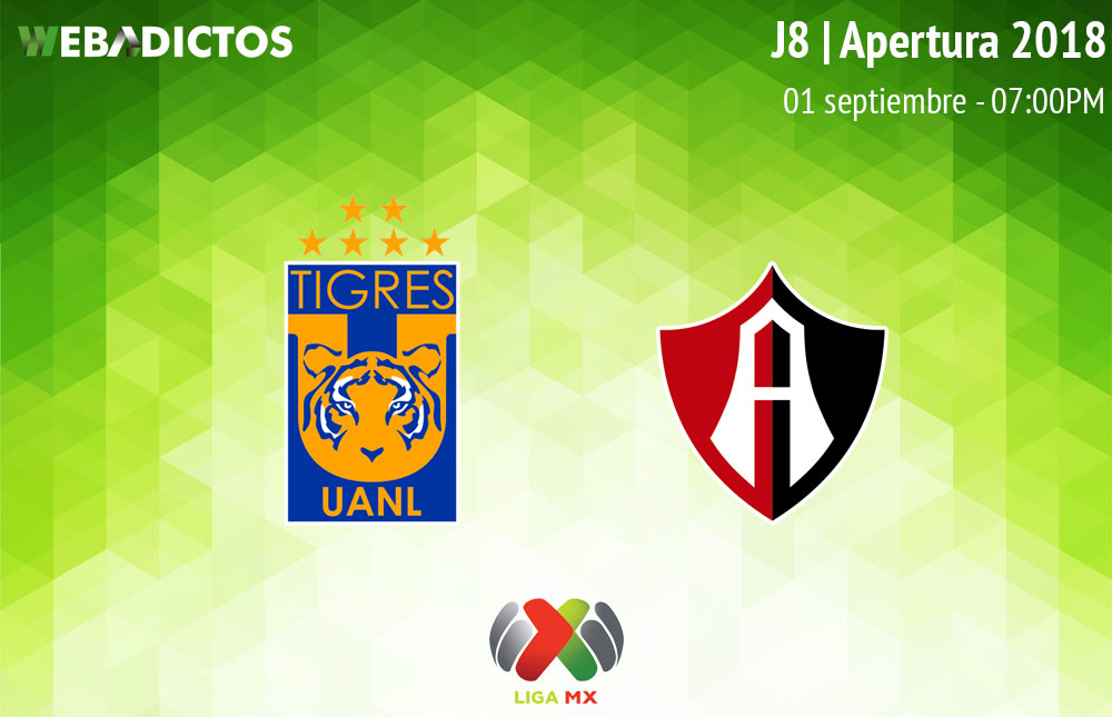 Tigres vs Atlas, J8 de la Liga MX A2018 ¡En vivo por internet! - tigres-vs-atlas-apertura-2018