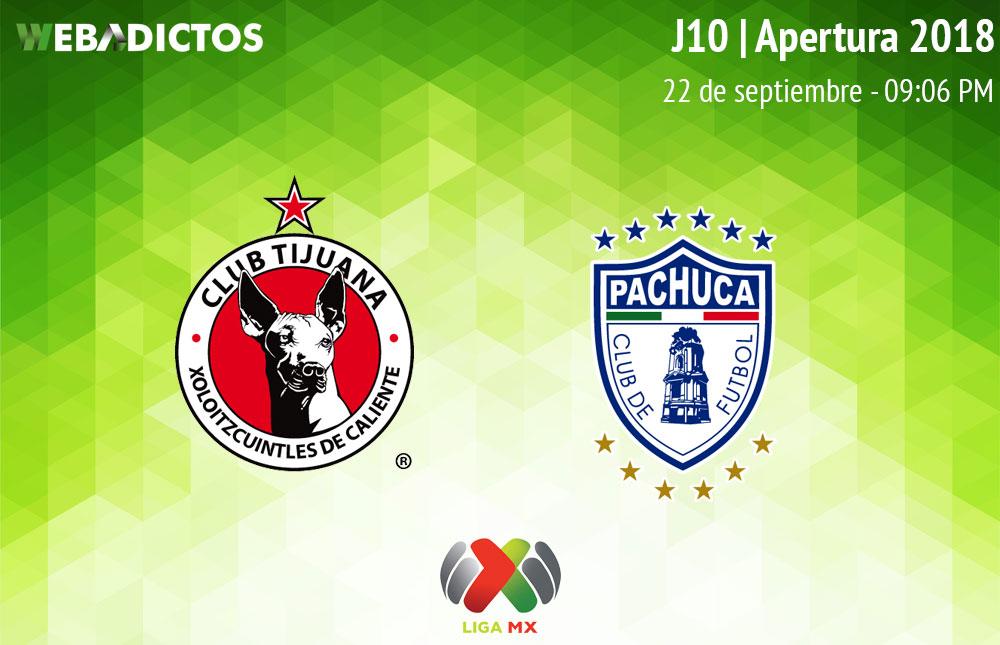 Tijuana vs Pachuca, J10 del Apertura 2018 ¡En vivo por internet! - tijuana-vs-pachuca-apertura-2018