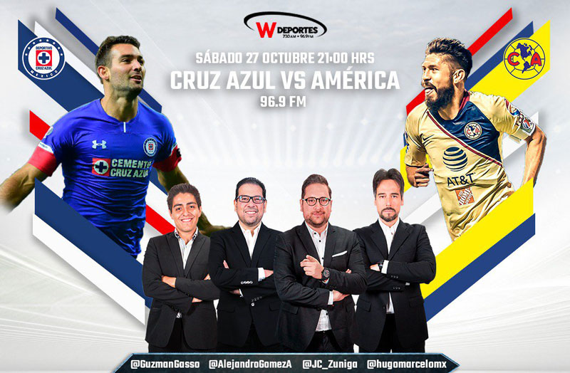 Cruz Azul vs América, Clásico joven A2018 ¡En vivo por internet! - america-vs-cruz-azul-por-radio-j14-a2018