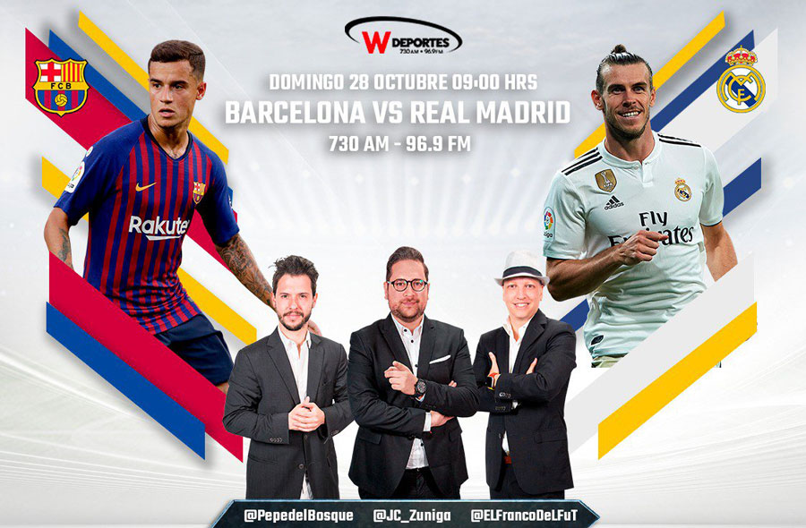 Barcelona vs Real Madrid, J10 de La Liga 2018 ¡En vivo por internet! - clasico-barcelona-vs-real-madrid-radio-2018