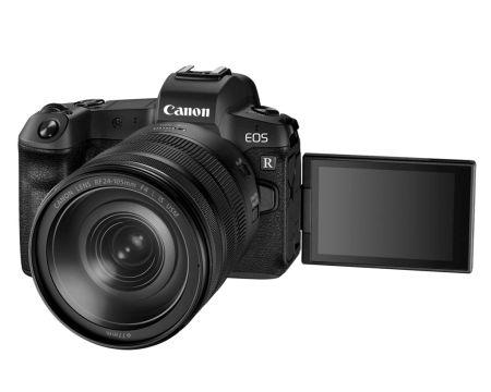Nueva Canon EOS R, la cámara precursora mirrorless de fotograma completo - hr_eos_r_rf24-105_is_usm_3qopen_bw