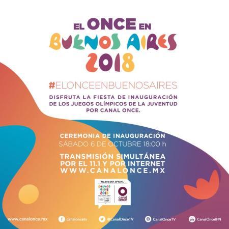 Los Juegos Olímpicos de la Juventud, por Canal Once del 6 al 17 de octubre
