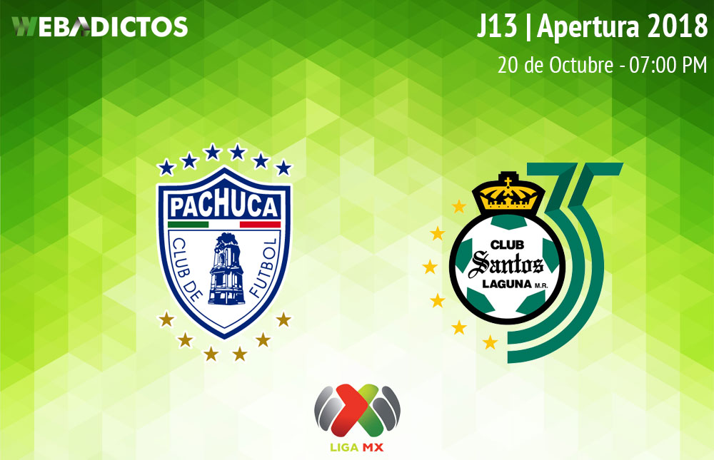 Pachuca vs Santos, Jornada 13 Apertura 2018 ¡En vivo por internet! - pachuca-vs-santos-apertura-2018