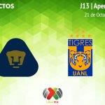 Pumas vs Tigres, J13 del Apertura 2018 ¡En vivo por internet!