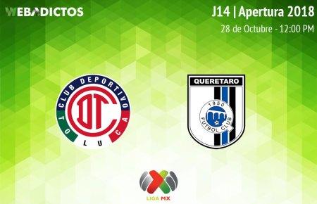 Toluca vs Querétaro, Jornada 14 Apertura 2018 ¡En vivo por internet!