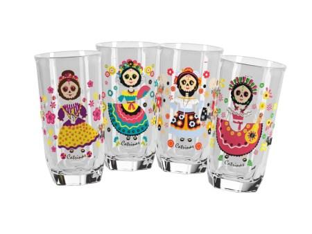Doña María lanza vasos coleccionables de las Catrinas