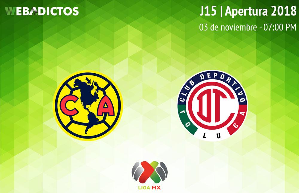 América vs Toluca, Jornada 15 Apertura 2018 ¡En vivo por internet! - america-vs-toluca-apertura-2018
