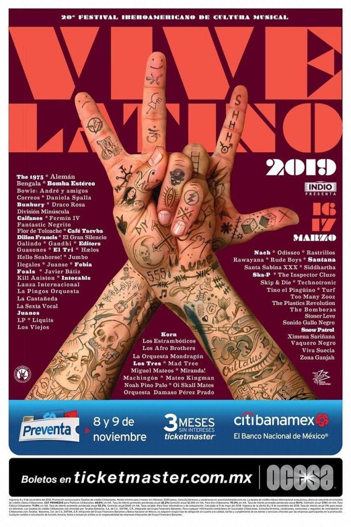 Lineup del Vive Latino 2019 - lineup-vive-latino-2019