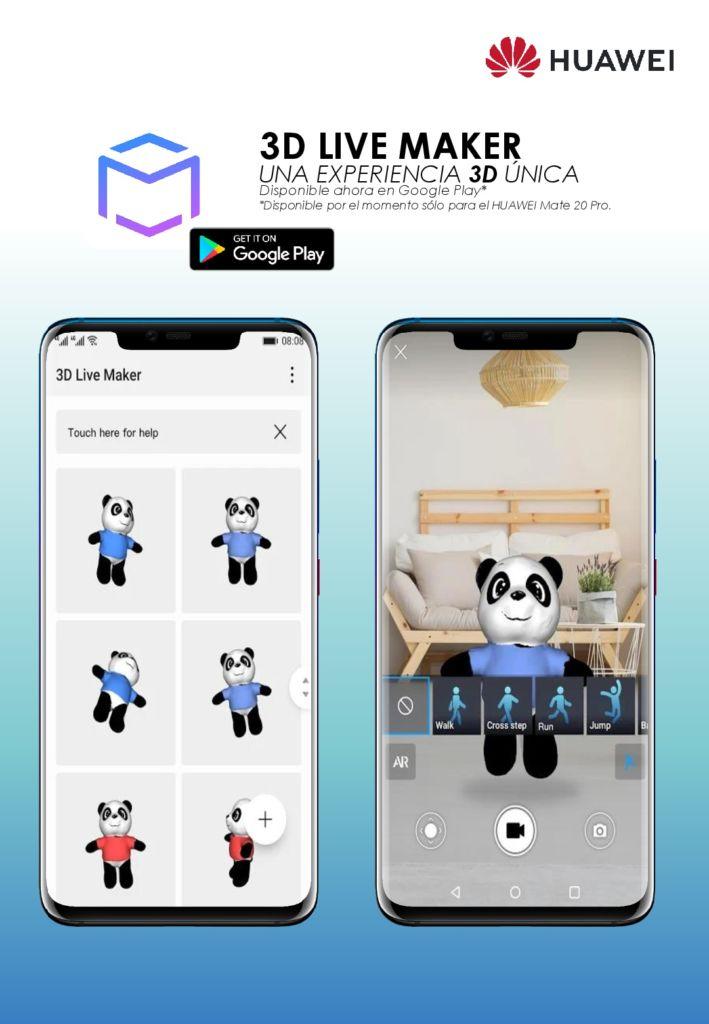 3D Live Maker, la app para escanear y animar objetos ¡Ya está disponible! - manual-huawei-3d-live-maker-001