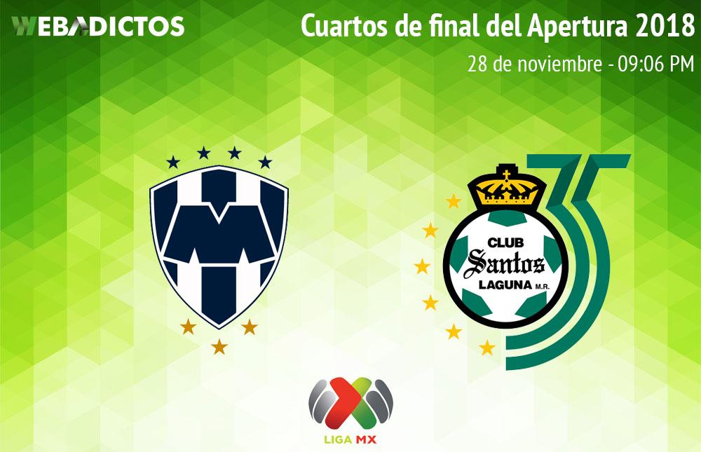 Monterrey vs Santos, Liguilla del A2018 ¡En vivo por internet! | Ida - monterrey-vs-santos-liguilla-liga-mx-a2018