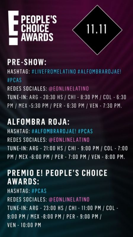 Transmisión E! People's Choice Awards 2018 Domingo 11 de Noviembre - redes-sociales-e-peoples-choice-awards-2018-449x800