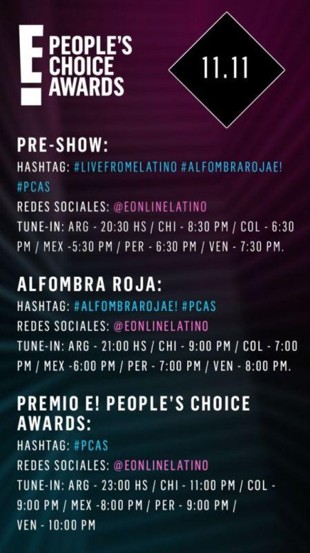 Transmisión E! People's Choice Awards 2018 Domingo 11 de Noviembre - redes-sociales-e-peoples-choice-awards-2018-449x800