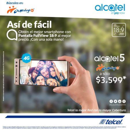 Ofertas de El Buen Fin 2018 en celulares Alcatel - smartphone-alcatel-5