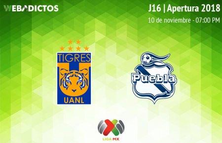 Tigres vs Puebla, Jornada 16 del A2018 ¡En vivo por internet!