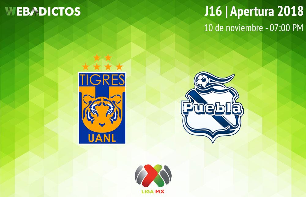 Tigres vs Puebla, Jornada 16 del A2018 ¡En vivo por internet! - tigres-vs-puebla-apertura-2018