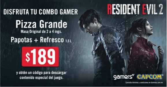 Resident Evil 2 se une #DominosPizzaYJuega con el Combo Gamer de Resident Evil 2 - combo-gamer-de-resident-evil-2