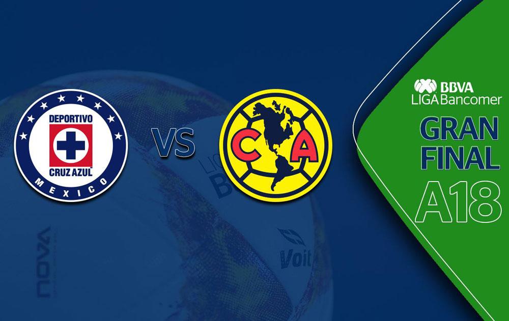 Horarios de la Final América vs Cruz Azul en el Apertura 2018 - final-liga-mx-a2018-cruz-azul-vs-america